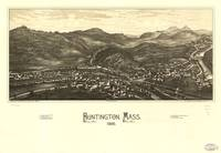 1886 Huntington, MA Birds Eye View Panoramic Map