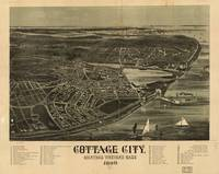 1890 Cottage City, MA Birds Eye Panoramic Map