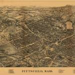 """1899 Pittsfield, MA Birds Eye View Panoramic Map"" by PaperTimeMachine"