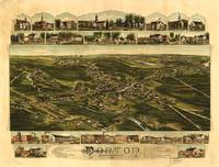 1891 Norton, MA Birds Eye View Panoramic Map