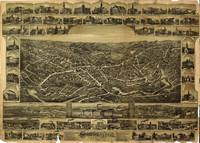 1892 Southbridge, MA Birds Eye View Panoramic Map