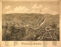 1879 Warren, MA Birds Eye View Panoramic Map