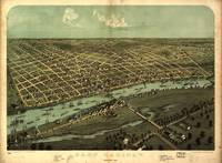 1867 East Saginaw, MI Birds Eye View Panoramic Map