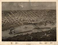 1867 Saint Paul, MN Birds Eye View Panoramic Map