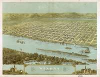 1867 Winona, MN Birds Eye View Panoramic Map