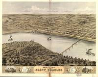 1869 Saint Charles, MO Birds Eye Panoramic Map