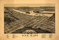 1880 Red Wing, MN Birds Eye View Panoramic Map