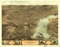 1868 Saint Joseph, MO Birds Eye View Panoramic Map