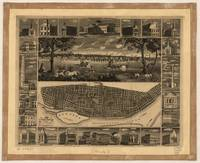 1848 Map & View of St. Louis, MO