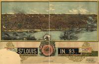 1893 St. Louis, MO Birds Eye View Panoramic Map
