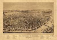 1894 Panorama of St. Louis, MO Birds Eye View