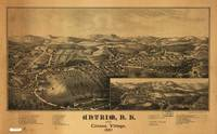 1887 Antrim & Clinton Village, NH Panoramic Map