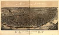 1896 St. Louis, MO Bird's Eye View Panoramic Map