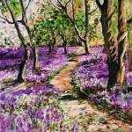 """""""Bluebell Forest Original Painting by Ginette Calla"""" by GinetteCallaway"""