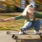 """a girl on a skateboard"" by Tommysu"