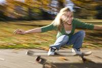 a girl on a skateboard