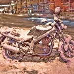 """Motorcycle on Foregate St 2_"" by dybowski"