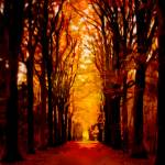 """tunnel of fall-paintng-LG"" by Art_by_Debrosi"