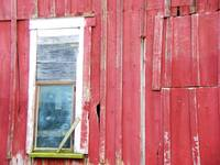 barn window with glass