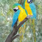 """Blue Macaws"" by Mesterartshop"
