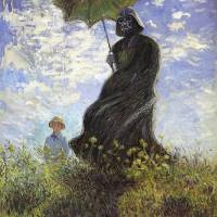 Vader with Parasol Art Prints & Posters by David Barton