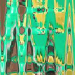 """Color of Mint Chocolate Abstract"" by AmyKania"