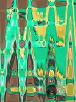 Color of Mint Chocolate Abstract