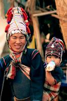 Akha Woman and child