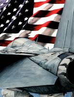 F-14 TomCat and Flag