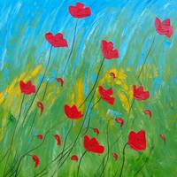 Windy days red poppies 10701