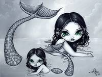 Mermaid Mother and Child