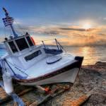 """Greek sunset in Aegina (II)"" by sergioamiti"
