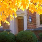 """First Baptist Church in Autumn 060"" by photographybydonna"
