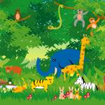 """Jungle in Cartoon"" by rudolf"