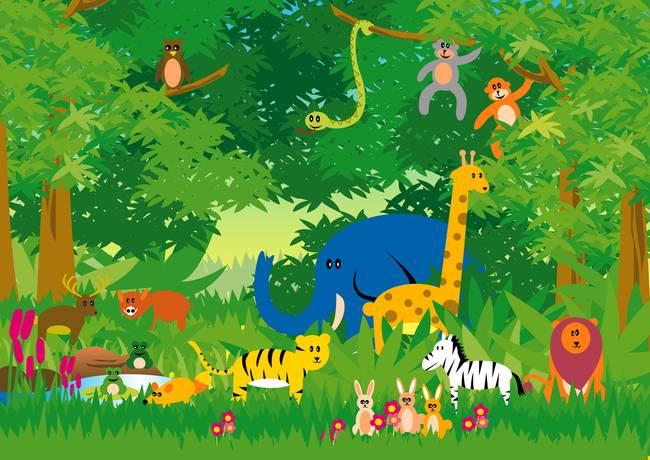 Jungle In Cartoon By Rudolf Isk