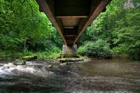 Under the Footbridge at Clare Glen