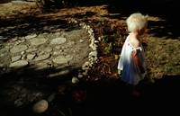 child stepping stones