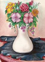 Vase of cut flowers
