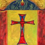 """Cross Over Snake Medieval Altarpiece Inspired"" by Lenora"