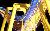 roller coaster yellow and blue