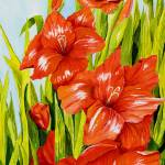 """Gladioli Standing Tall"" by janlan44"