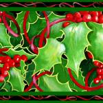 """Christmas Holly and Berries"" by janlan44"