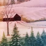 """Winter Scene"" by EMBlairArtwork"
