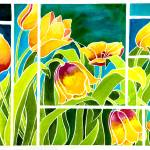"""Tulips in ""Stained Glass"""" by janlan44"