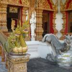 """Dragons Guarding Viharn at Wat Bupharam"" by vampireskunk"