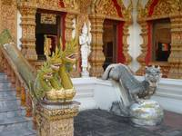 Dragons Guarding Viharn at Wat Bupharam