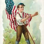 """Boy Defending the American Flag"" by kreicher"