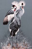 Crowned Cranes painting