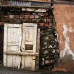 """Old White Door And Wall"" by joshuaphotography"