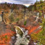 """Taughannock Creek gorge HDR"" by chandlerphotography"